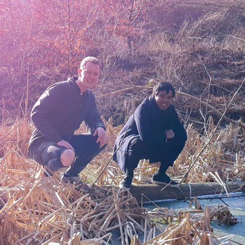 Kenny og Daniel på udflugt